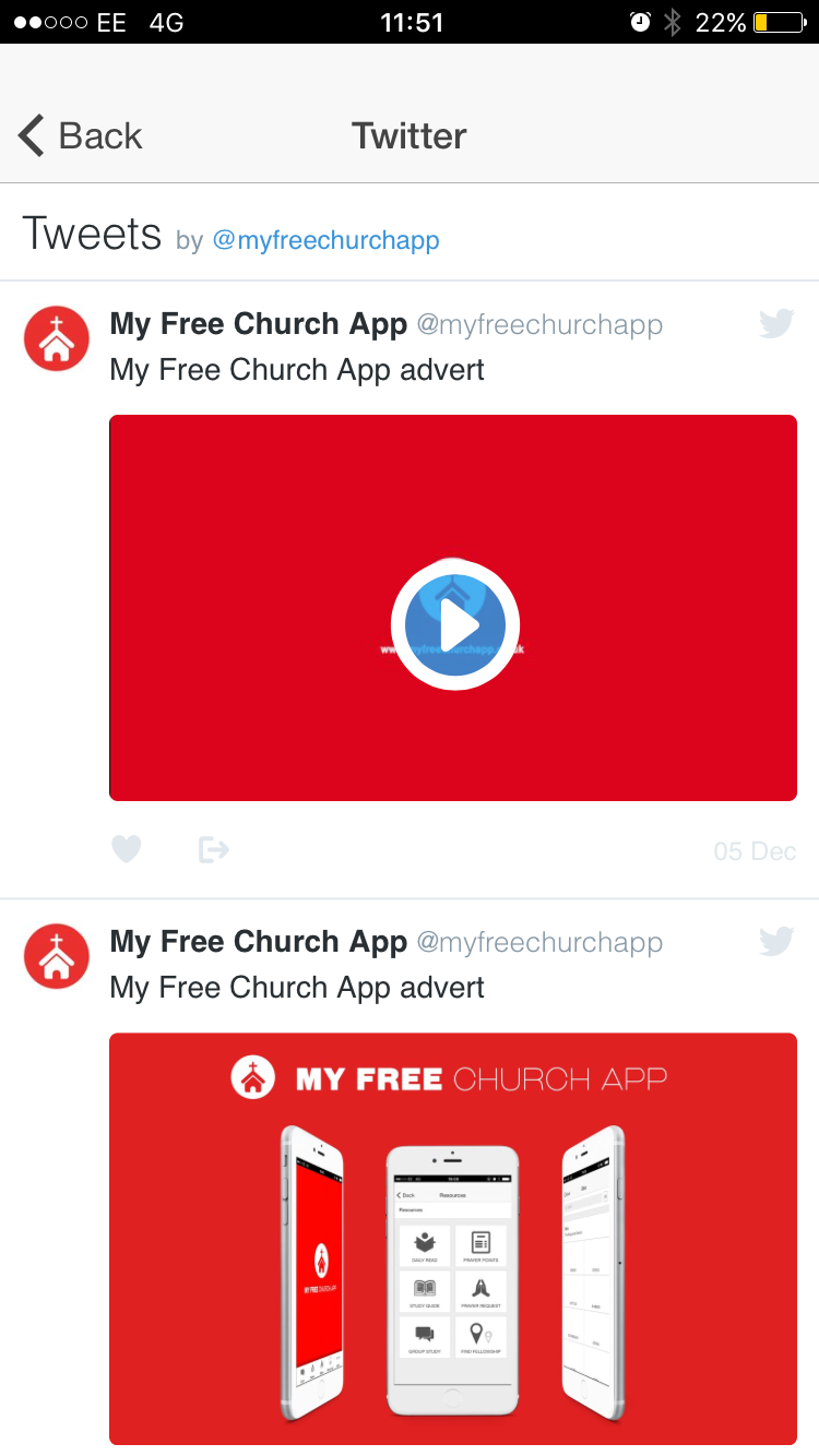 My Free Church App Free App For All Churches